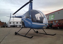 Helicopter Wrapped in Printed Vinyl