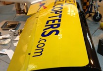 Plane Wing with Cut Vinyl Applied