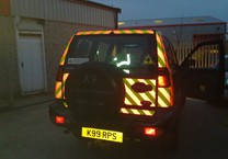 Reflective & Fluorescent Chevrons for Rear of 4x4